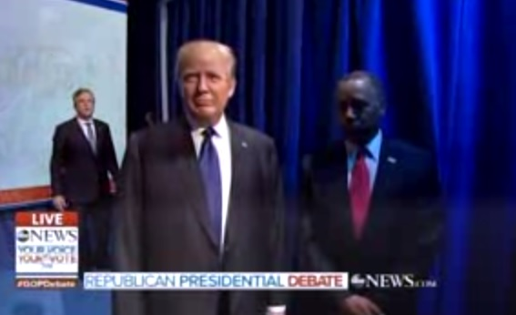 OMG! ABC GOP Debate Intro Disaster — Candidate Pile-Up