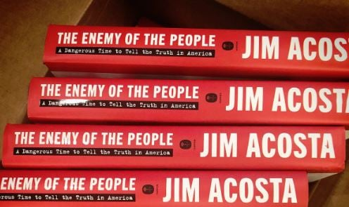 "photo image Blowhard Jim Acosta's Book ""Enemy of the People"" Already 40% Off – Drops to #268 on Amazon in Its First Week"