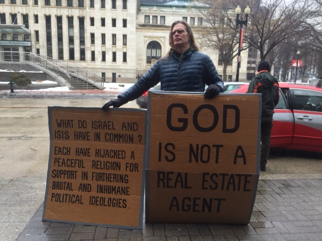 aipac protester