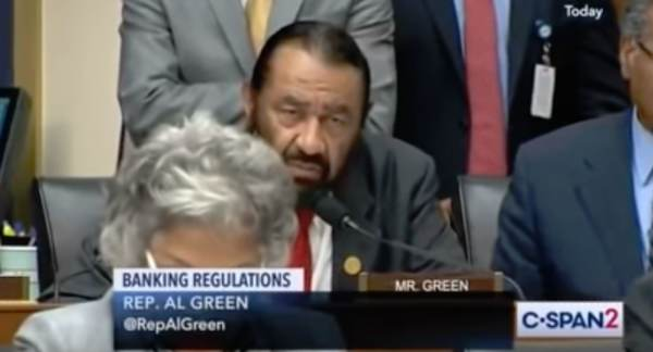 """photo image House Democrat to Top Bankers: """"You Appear to Be White Men"""" (Video)"""