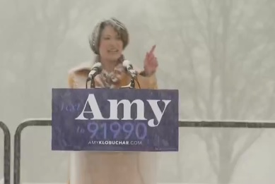 MUST SEE: Unhinged Leftist Amy Klobuchar Rants Against Global Warming -- Then Immediately Eats Mouthfull of Snow (VIDEO)