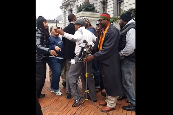 Anti-Violence Rally in Newark Descends Into Violence – Choke Holds (VIDEO)