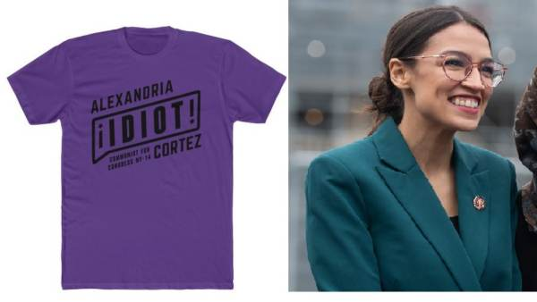 "Apparel Website Is Banned from Payment Processor Evalon for Selling Ocasio-Cortez Is an Idiot T-Shirts – Considered ""Hate Speech"""