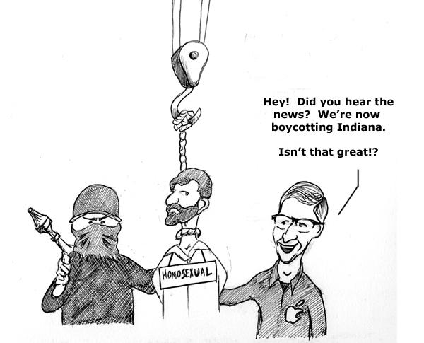 apple cartoon howe