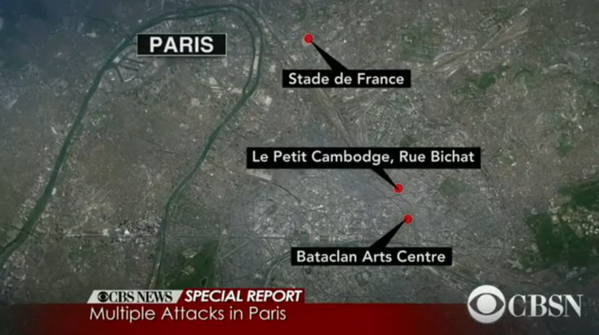 attacks paris map