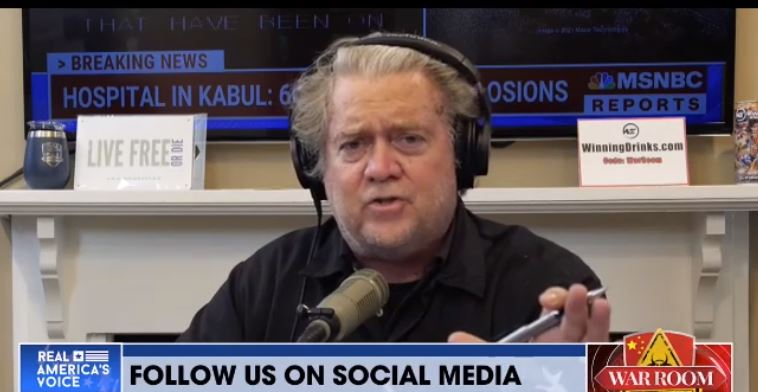 """""""You're a Disgrace! You're a Disgrace to this Country! You're a Disgrace to Every Man and Woman Who Gave Their Life!' – Steve Bannon GOES OFF After Predictable Kabul Bombings (VIDEO)"""