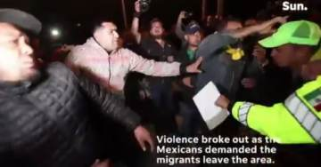 MEXICANS Grow Tired of Migrant Invasion – Battle With Central American Migrants in Tijuana (VIDEO)
