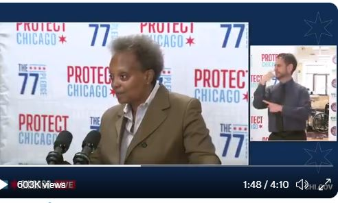 """Lori Lightfoot Accuses Police Union of Attempting to """"Induce an Insurrection"""" by Not Gettting Experimental Vaccine (VIDEO)"""