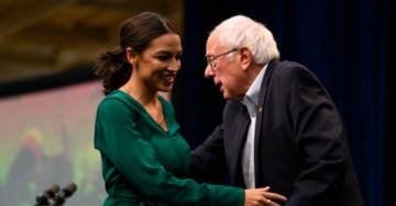 Bernie Says Ocasio-Cortez Would Play 'Very Important Role' In A Sanders White House