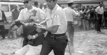 PHOTOS AND VIDEO EMERGE=> Of Young Socialist Bernie Sanders Being Cuffed and Arrested