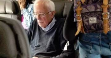 Good Ol' Socialist Bernie Sanders — A Bum Who Earned His First Paycheck at Age 40 — Is Caught Flying First Class to Dem Debate