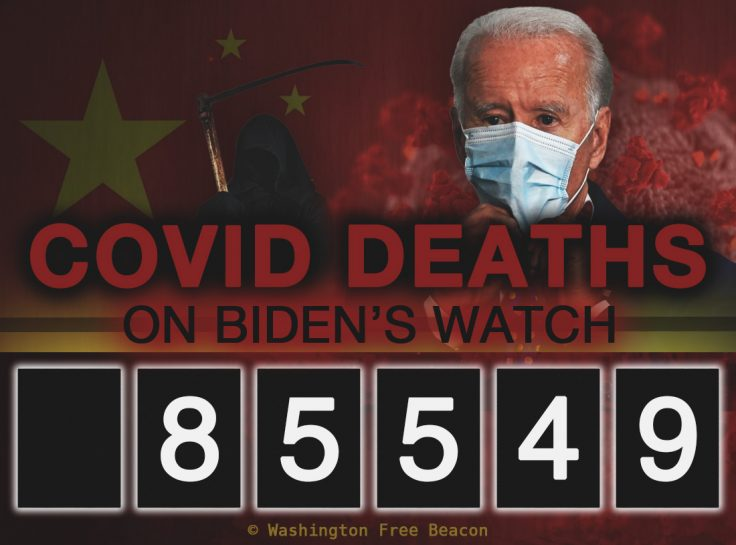 Using Liberal Logic Joe Biden Is Now Responsible for the Death of Over 85,000 Americans In the Last Month Alone Who Died from COVID