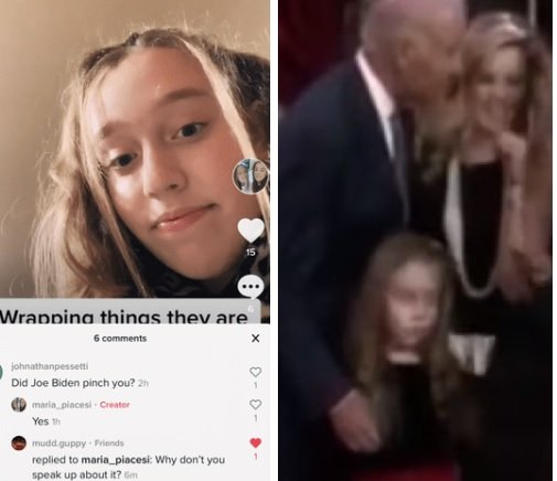 He Groped Her and Pinched Her Nipple..Girl Who Was Touched by Creeper Joe Biden on Camera Confirms