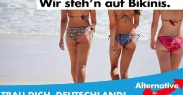 Bikinis Over Burkas! Provocative Posters Boost AfD In German Election Campaign