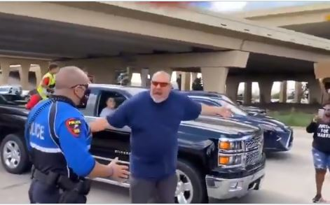 """Get the F**k Out of My Way!"""" – BLM Mob PULLS GUN on ANGRY TEXAS DRIVER After He Screams at Them for Shutting Down Traffic in Plano"""