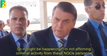 Brazilian President Bolsonaro Accuses Actor DeCaprio of Paying to Burn Amazon – After 5 NGO Operatives Arrested on Arson Charges