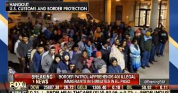 STUNNING! Border Patrol Apprehends 400 Illegal Aliens in 5 Minutes in El Paso — But Democrats and RINOs Say There Is No Border Emergency?