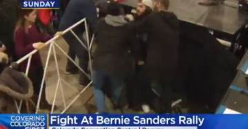 """CRAZY TRAIN: Bernie Bros Brawl at Colorado Rally After White Guy Accuses Black Guy of Wearing Racist """"Black Guns Matter"""" T-Shirt (VIDEO)"""