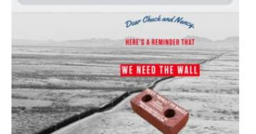 Hah-Hah! Trump Campaign Launches New Fundraiser: Help the President Send Bricks to Pelosi and Wall-In her Office