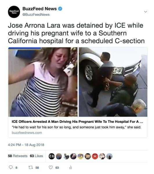 FAKE NEWS Cries a River About Illegal Alien Arrested While Taking His Pregnant Wife to Hospital…. Leaves Out FACT He Was MURDERER!
