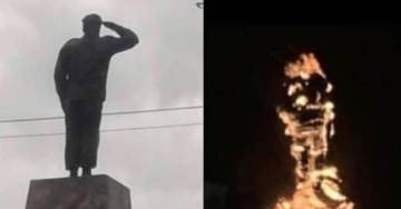 TGP EXCLUSIVE… Socialist Regime Teeters on Edge — Chavez Statue TORCHED – Goes Up in Smoke! (VIDEO) — RIOTS IN THE STREET