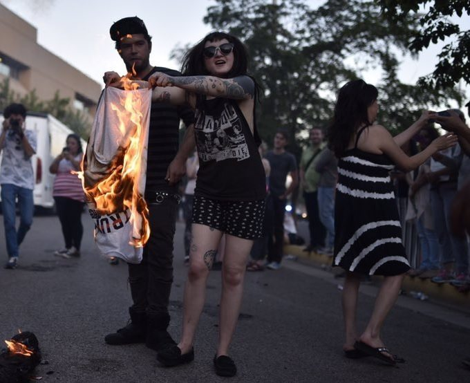 Outrageous. Albuquerque Police Dept. Won't Call Vendor Back After Violent Protesters Torched His Trump T-Shirts