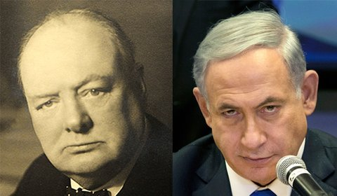 churchill netanyahu