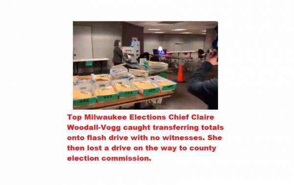 Developing: Milwaukee Elections Chief Lost Elections Flash Drive in Morning Hours of November 4th  plus MORE Claire-woodallvogg-cheater-600x379