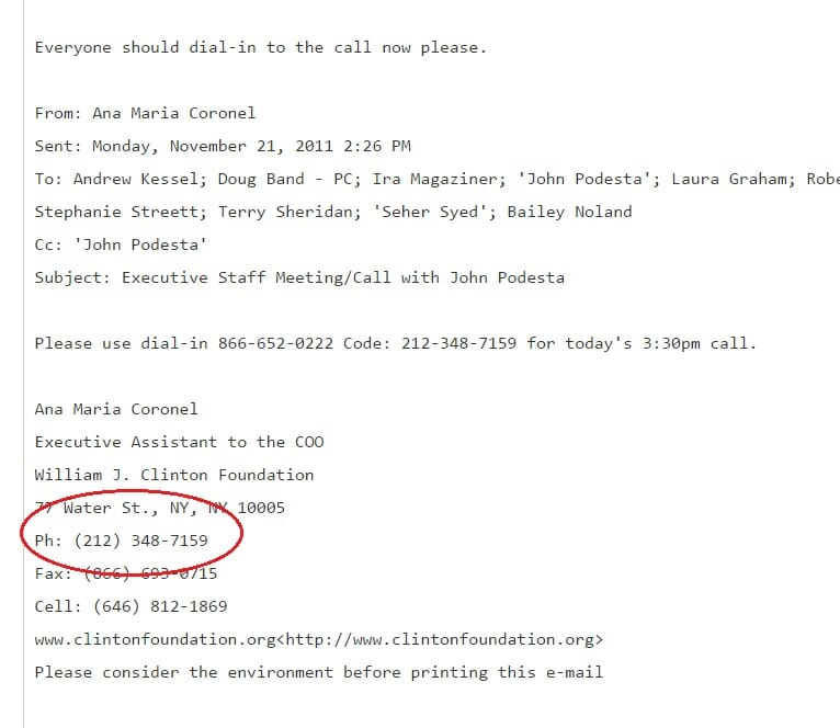 clinton-foundation-phone-number-wikileaks