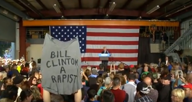 clinton-rapist-rally-sign
