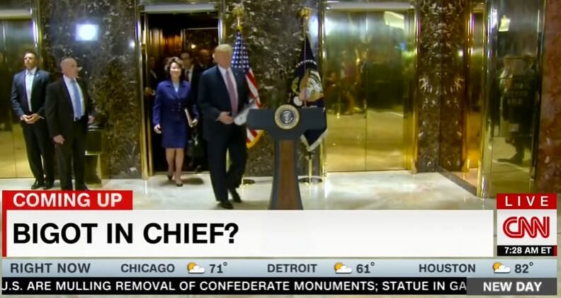 A New Low for #FakeNews: CNN Chryon Asks if Trump is 'Bigot in Chief' (Video)