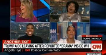 Classless CNN All-Female Panel Including April Ryan – Laugh, Gloat and Scream After Omarosa Announces Plans to Leave White House #MeToo (VIDEO)