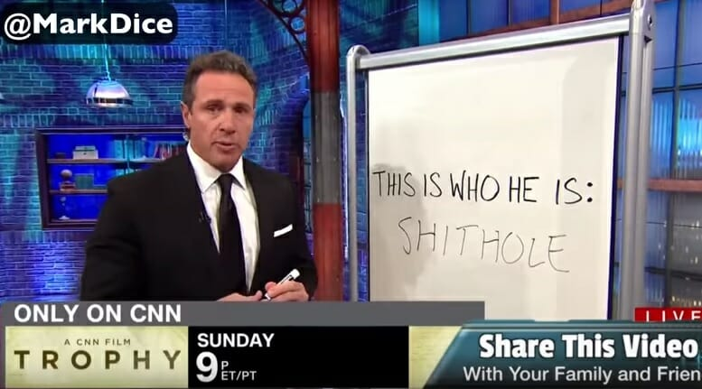 """photo image CNN Goes Off on a Sh*thole Sh*tstorm: Mentions """"Sh*thole"""" at least 36 Times in One Night (Video)"""