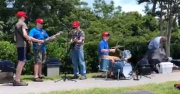 "Outside Trump Rally, Teen Band Plays New Song: ""CNN SUCKS!"" (VIDEO)"
