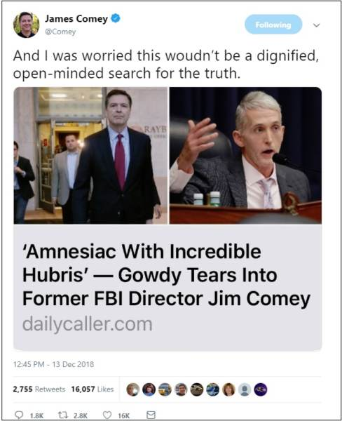 """BOOM! Trey Gowdy Warns 'Forgetful' James Comey After He Shoots Off His Mouth — """"See You on Monday!"""""""
