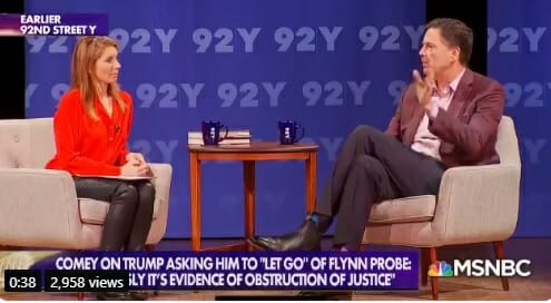 """Fired FBI Director James Comey Calls on Americans to """"Use Every Breath We Have"""" to Oust President Trump"""
