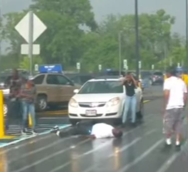 SHOCK VIDEO=> Cops Taze the Shoes Off Black Man in Wal-Mart Parking Lot