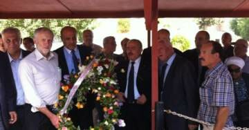 UK Far Left Labor Leader Jeremy Corbyn Pictured Laying Wreath at monument to Palestinian Terrorists – Including 1972 Munich Olympic Terrorists
