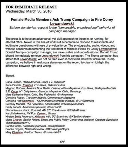 WOW SelfRighteous Female Cruz Supporters Write Letter Demand – Letter of Firing