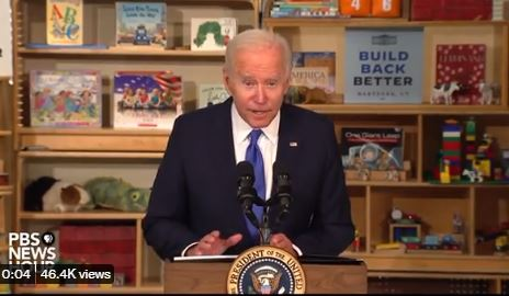 Creepy Biden Whispers in the Mic Again… After Playing Touchie with The Kids (Video)