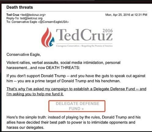 cruz death threats delegates