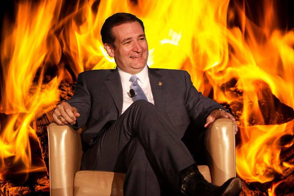 cruz on fire
