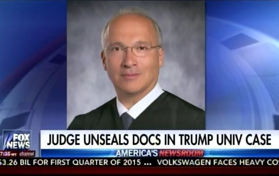 Obama-Appointed Judge Will Release Sealed Documents on Trump University Case to Press Before Election (VIDEO)