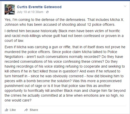 curtis gatewood racist