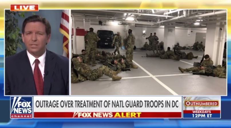 """""""They're Soldiers, They're Not Nancy Pelosi's Servants"""" – FL Governor DeSantis Orders His National Guard Troops in DC Back to Florida (VIDEO)"""