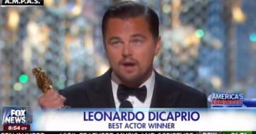 "Hypocrite DiCaprio Wins Oscar Tells Rubes to ""Not Take Planet for Granted"" (VIDEO)"