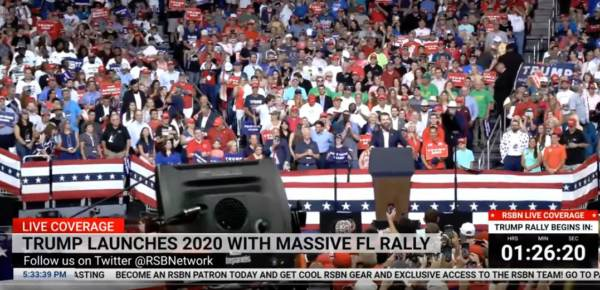 "Donald Trump Jr. Mocks Joe Biden at Orlando Rally: ""He Gets Up to Stump, to About 4 People… Usually as He's Groping Someone"" (VIDEO)"