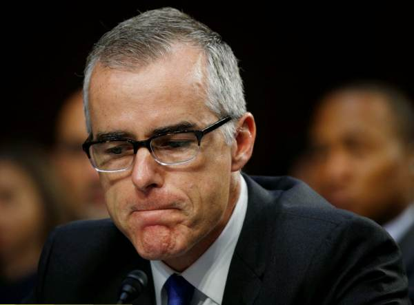 photo image DEVELOPING=> FBI's Andrew McCabe Faces Possible FIRING After Internal Review Recommends Termination