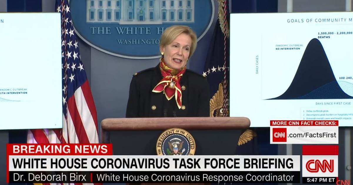 OUTRAGEOUS! Dr. Birx Pushes COMPLETE RUBBISH on American Public — Insists without One Iota of Proof that the US Economic Suicide Cut Coronavirus Deaths by Over a Million Deaths! (VIDEO)