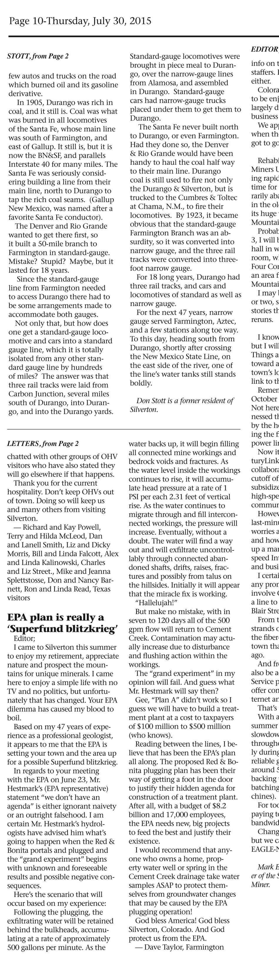 editorial colorado epa